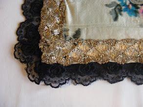Photo: Debela svila fertuška sa zlatnom čipkom Kötény vastag selyemből arany csipkével