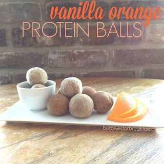 Vanilla Orange Protein Balls