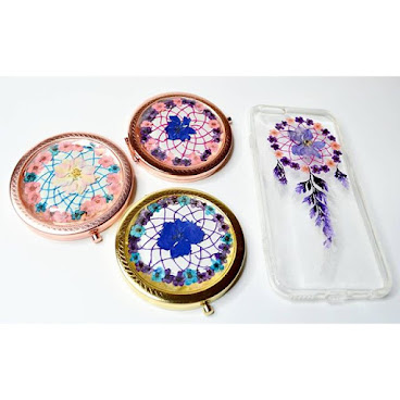 [訂製/custom-made] Dreamcatcher Pressed Flower Mirror