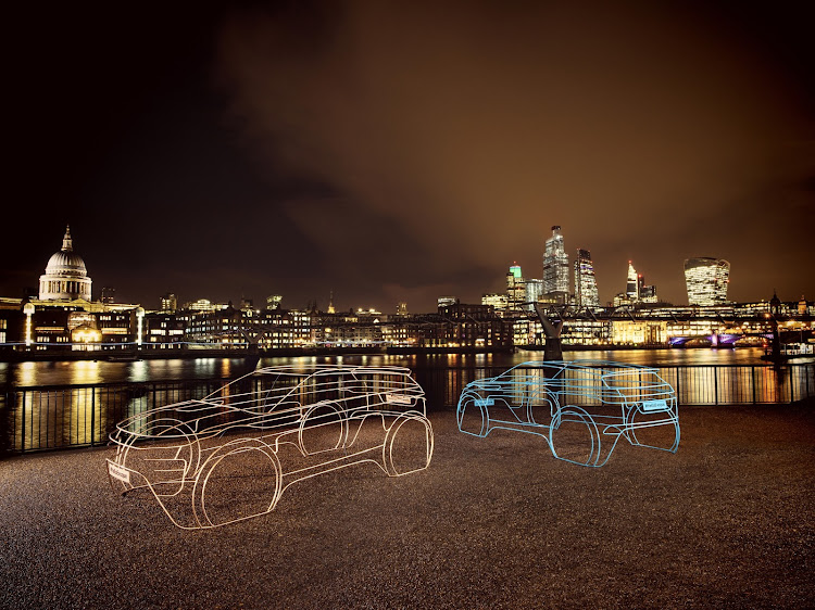 Wire models of the new Evoque were scattered around London to tease the SUV's launch this week. Picture: SUPPLIED