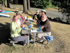 Photo: Advantage of state park: picnic tables for dinner. Weather was glorious.