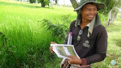 Photo: Happy & enthusiastic smart farmer in Srikhorapum, Surin