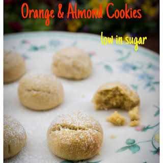 Soft Orange & Almond Biscuits Low In Sugar- Easy To Make!.