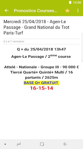 Pronostics Courses : Tiercu00e9, Quartu00e9, Quintu00e9 5.0.1 screenshots 5