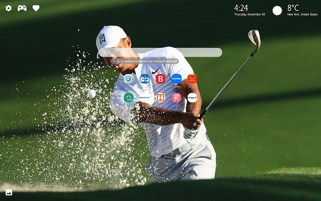 Tiger Woods Golf Wallpaper HD New Tab