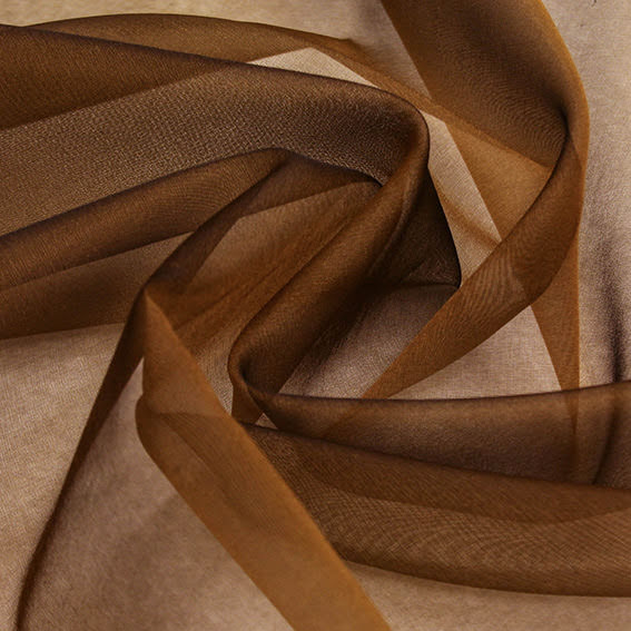 Sidenorganza - brun/guld