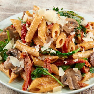 Spinach Mushrooms Penne Pasta Recipes