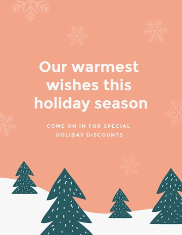 Our Warmest Wishes - Flyer template