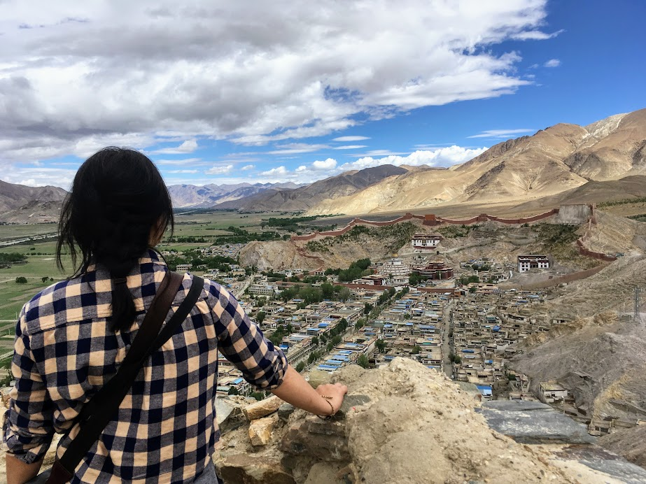 The view from the top of the fort in Gyantse, Tibet