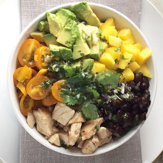 Healthy Chicken & Rice Bowl.