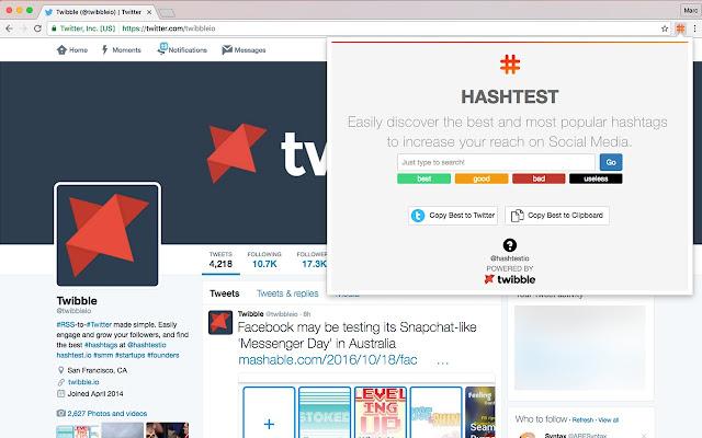 HashTest - Realtime Hashtag Testing