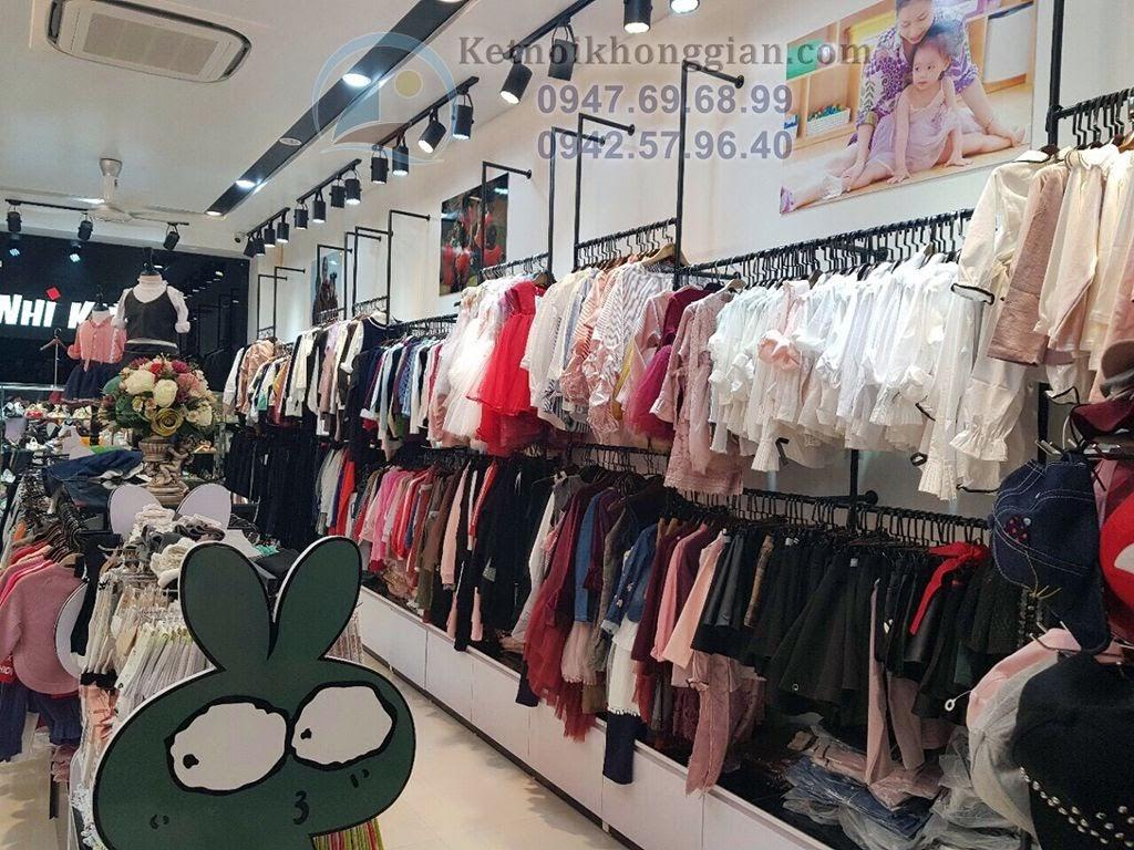 thiết kế shop thời trang trẻ em sang trọng