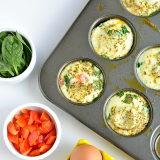 Easy Spinach Pepper Egg Muffins.