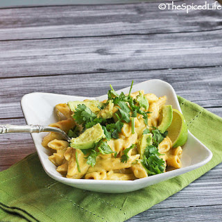 Penne Pasta with Cheddar Cheese, Avocado and Lime