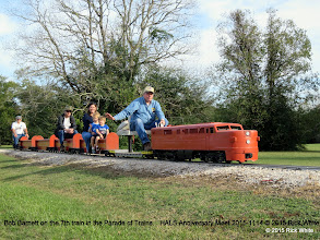 Photo: Bob Barnett on the 7th train in the Parade of Trains.   HALS Anniversary Meet 2015-1114 © 2015 Rick White
