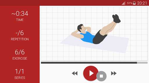 Abs workout A6W - flat belly at home screenshot 8