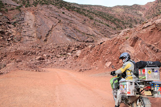 Photo: Plenty of landslides all along the road to Demnate through the High Atlas mountains