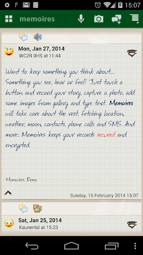Memoires your personal diary screenshot 7