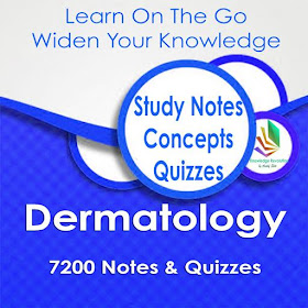 Dermatology Exam Review App: Study Notes & Quizzes