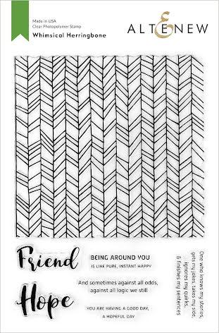 Altenew Clear Stamps 6X8 - Whimsical Herringbone
