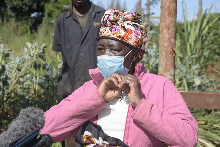 Teresia Nyokabi at her home in Gachugi village, Gatundu North on Monday. Her two dairy cows were stolen on Sunday night.