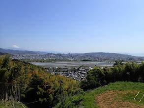 富士山を眺めながら歩く