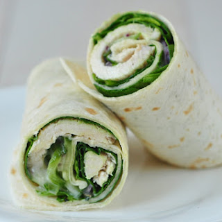 Turkey and Cucumber Salad Wrap.