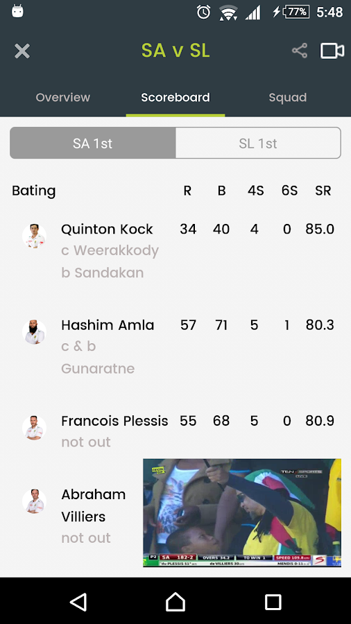 Cricingif Live Cricket Scores- screenshot