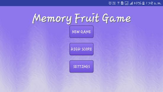 Memory Game : Fruits - náhled