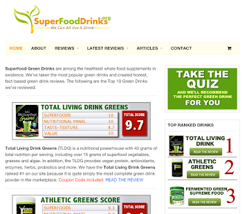 SuperFoodDrinks.org- screenshot thumbnail