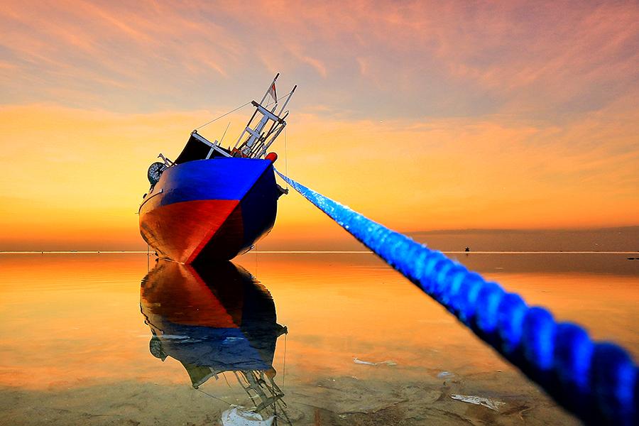 After Sunset by Mustafa Syahril - Transportation Boats