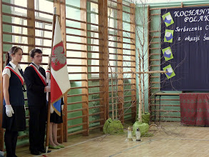 Photo: Poczet sztandarowy szkoły