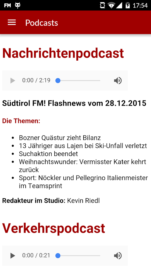 Südtirol FM- screenshot