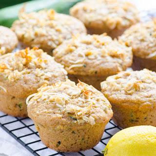 Clean Eating Lemon Zucchini Muffins.