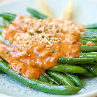 Green Beans with Peanut Sauce.