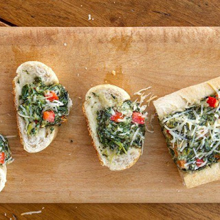 Spinach Dip in French Bread.