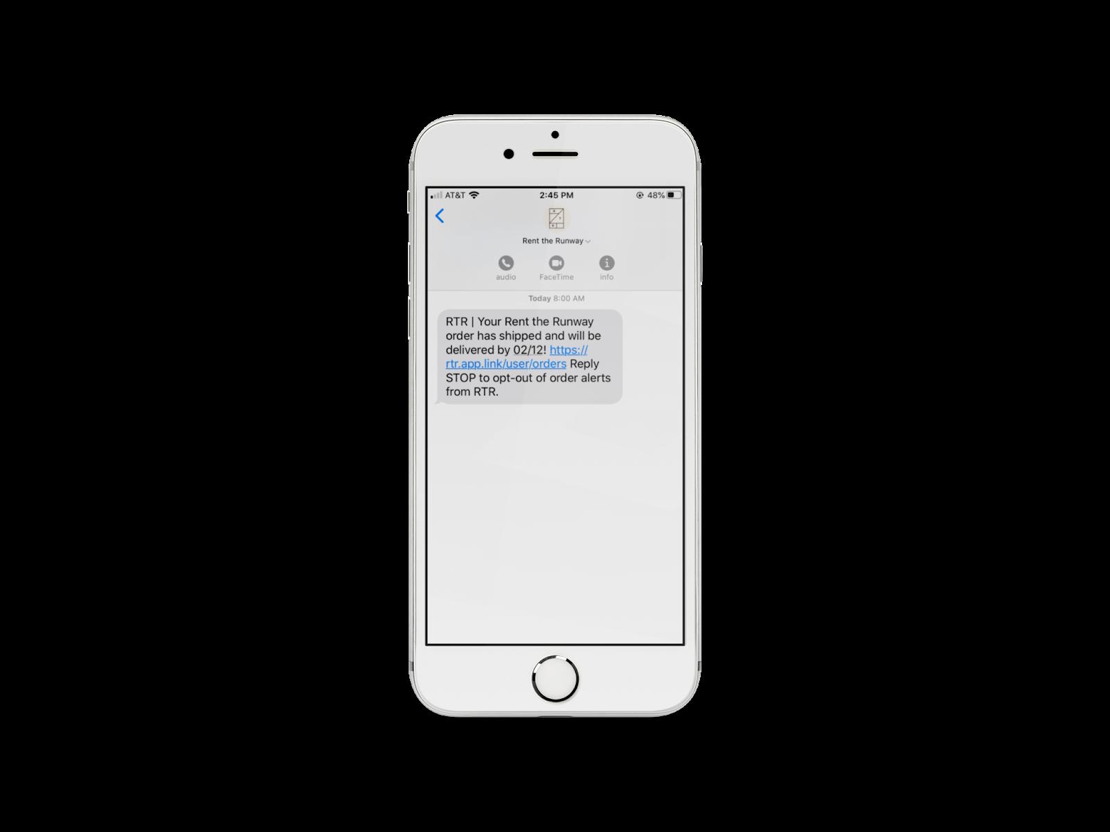 ejemplo mensaje de texto
