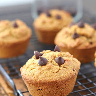 Bakery Style Grain Free Almond Flour Chocolate Chip Muffins.