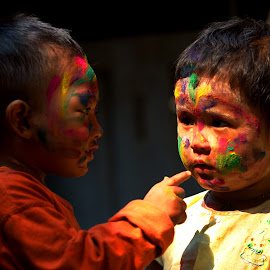 Playing with colours by Aung Kyaw Soe - Babies & Children Children Candids