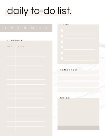 Overlay Daily To Do - Planner Template