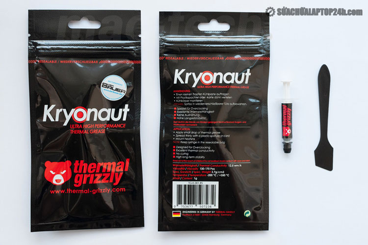 Bộ sản phẩm keo tản nhiệt gốm Thermal Grizzly Kryonaut