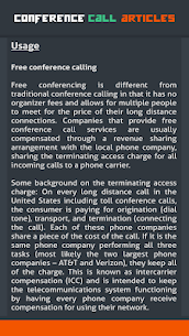 Conference Call Articles 6