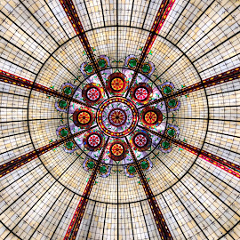 Abstract in Glass by Lorna Littrell - Abstract Patterns ( abstract, art, glass, domes,  )