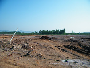 Photo: the land, previously field, now prepared for industry near town Tianzhen.