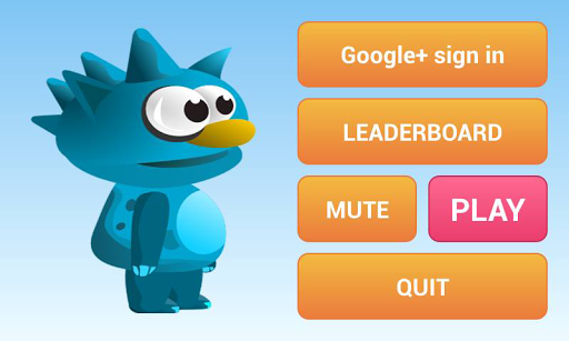 Game running blue monster