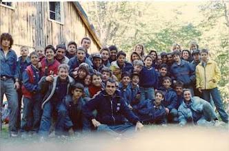 Photo: 1989 - Bariloche, Campamento anual Tropa, Cabaña y Postas Refugio Neumeyer