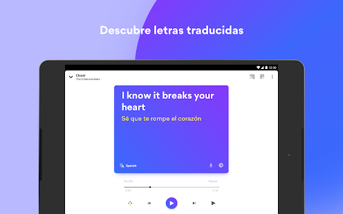 Musixmatch Music Player Letras Screenshot