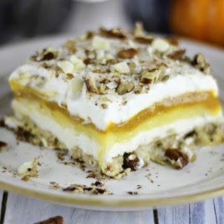 Pumpkin Lasagna Dessert.