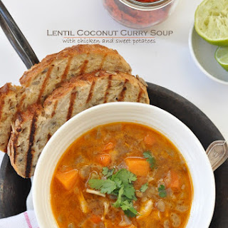 Lentil Coconut Curry Soup