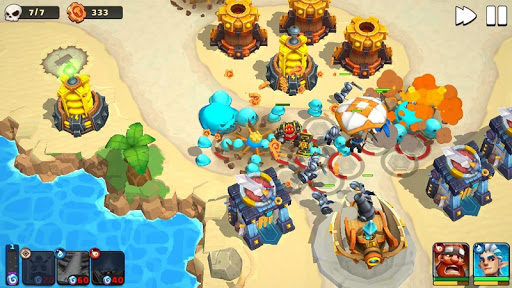 3D Wild TD: Tower Defense in Fantasy Sky Kingdom screenshots 16